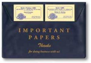 Vinyl Document Wallets (Stock)