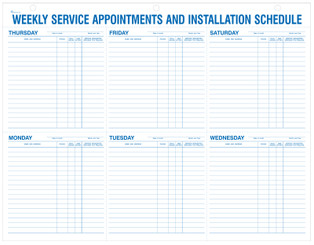 Weekly Service Appointments