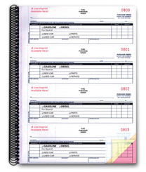 Fuel Purchase Order Books 3-Part IMPRINTED
