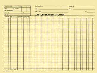 Accounts Payable Voucher Envelopes - 100 Per Pack - Form #DSA-540