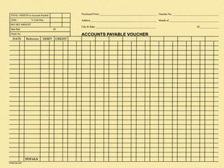 Accounts Payable Voucher Envelopes - 100 Per Pack - Form #DSA-540