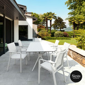 7 Piece Patio Dining Setting with Pacific Armchairs