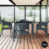 4 Piece Balcony Setting with Panama Armchair