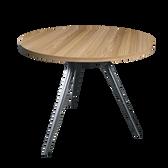 Kenek Polished Table Frame - Wild Oak Top