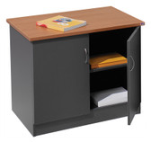 Ship Shape Desk Height Credenza - Red Cherry/Ironstone