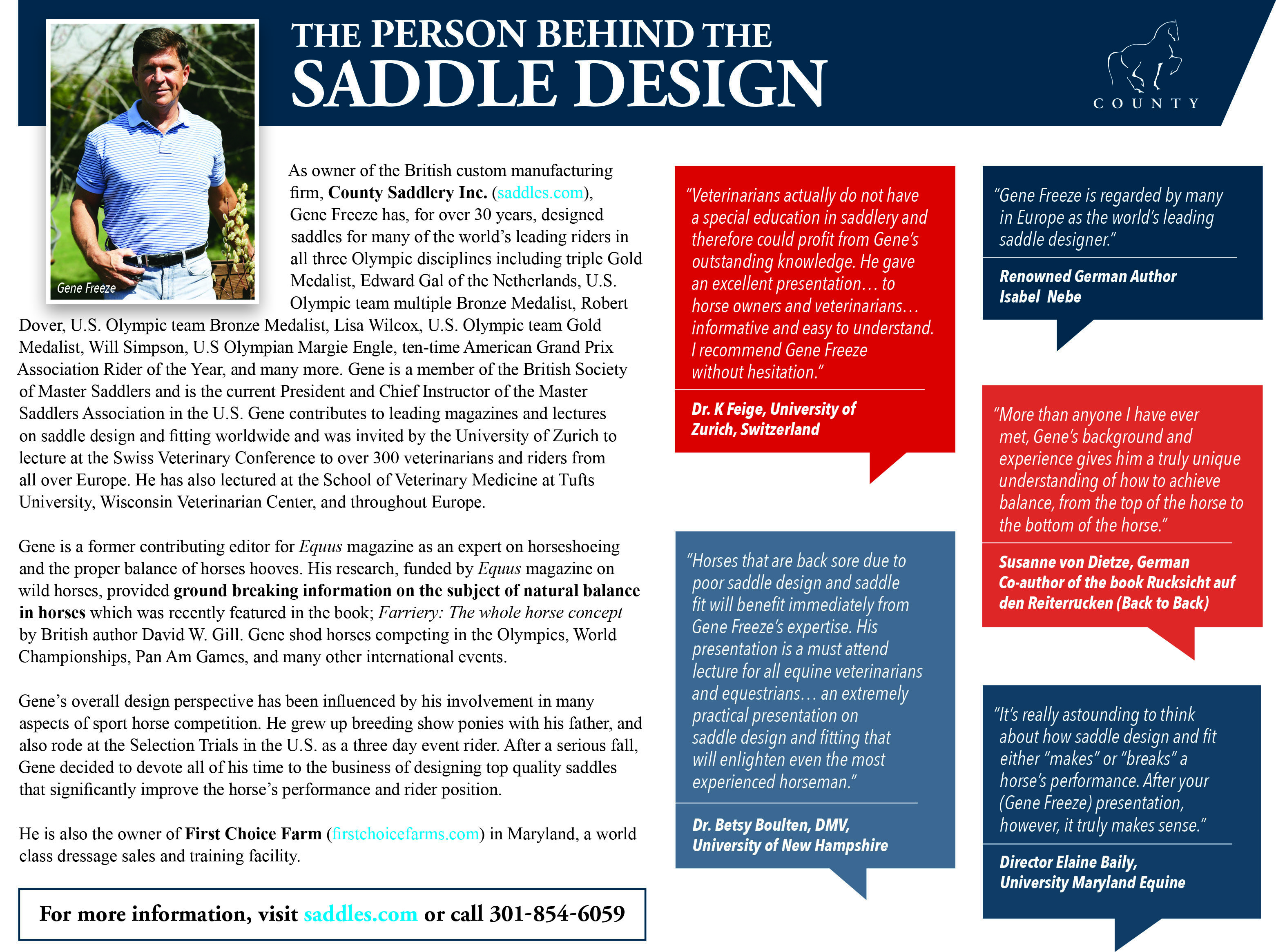 The Person Behind The Saddle Design