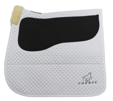 Equest Non-Slip Saddle Pad - White Dressage