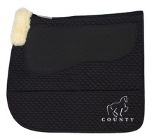Equest Non-Slip Saddle Pad - Black Dressage