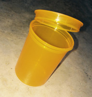 Orange storage container designed for moon clips and moon clip checkers. Pkg of 3.