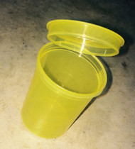 Yellow storage container designed for moon clips and moon clip checkers. Pkg of 3.