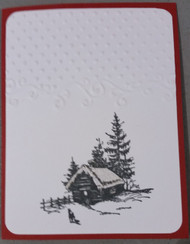 Hand Made Chrostmas Cards Box of 5 with envlopes