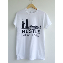HUSTLE NEW YORK WHITE & BLACK T-SHIRT
