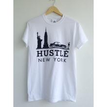 HUSTLE NEW YORK WHITE & BLACK T-SHIRT