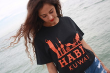HABIBI KUWAIT BLACK & ORANGE T-SHIRT