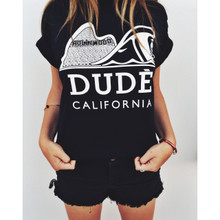 DUDE CALIFORNIA BLACK & WHITE T-SHIRT