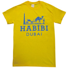 HABIBI DUBAI YELLOW & BLUE T-SHIRT