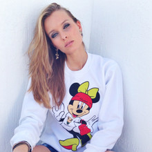 MINNIE MOUSE WHITE CREWNECK SWEATER