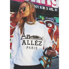 ALLEZ PARIS WHITE & BLACK SWEATER