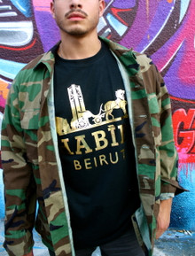 HABIBI BEIRUT BLACK & GOLD T-SHIRT