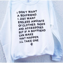BF QUOTE WHITE CREWNECK SWEATER