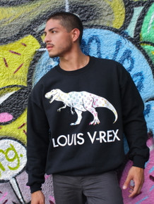 LOUIS V-REX BLACK SWEATER