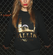 BALLIN LONDON BLACK & GOLD FOIL SWEATER