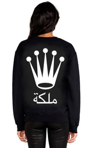 QUEEN ARABIC VERSION BLACK SWEATER