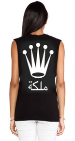 QUEEN ARABIC VERSION BLACK TANK