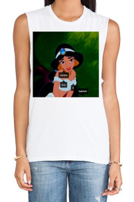 "PRINCESS JASMINE ""PLEASE BUY IT HABIBIII"" WHITE TEE"