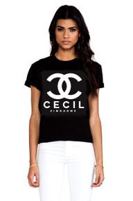CC CECIL ZIMBABWE BLACK T-SHIRT