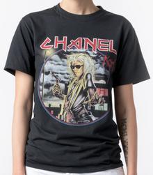 CHANEL x IRON MAIDEN KARL LAGERFELD BLACK T-SHIRT