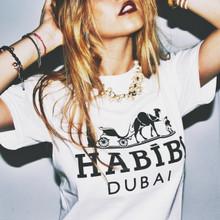 HABIBI DUBAI WHITE & BLACK T-SHIRT