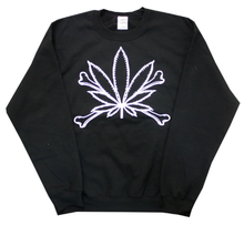 WEED'n'BONES BLACK & WHITE SWEATER