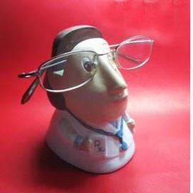 Female Doctor Eyeglass Multipurpose Holder