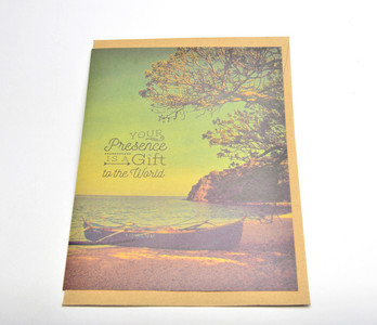 Your Presence is a Gift to the World Giant Card (With Special Person Poem Inside) w/ envelope