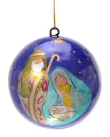 Holy Family Capiz Ornament