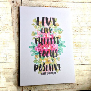 Live life to the fullest Deco Poster