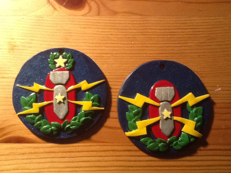Master and Senior EOD Badge Ornaments