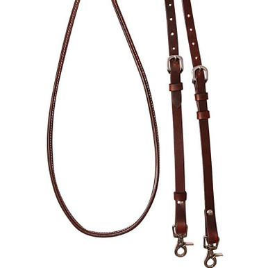 Cashel Adjustable Chocolate Reins 8""