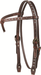 CASHEL ANTIQUED DOTTED HEADSTALL
