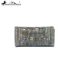 Montana West Arrow Embroidered Collection Secretary Style Wallet