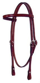 "Fabtron 5/8"" Leather Browband Headstall"