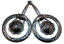 Jeremiah Watt Fancy Ring Snaffle Concho Bit 4-396