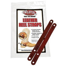 Weaver Heel Straps, Burgundy Latigo Leather  30-1005