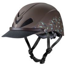 Weaver Troxel Dakota Helmet Turquoise and Paisley Brown 04-318M Medium