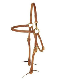 BERLIN CUSTOM LEATHER HEADSTALL HERMANN OAK MULE SNAP H120