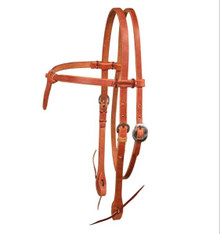 BERLIN HAND TIED HEADSTALL - KNOTTED BROWBAND