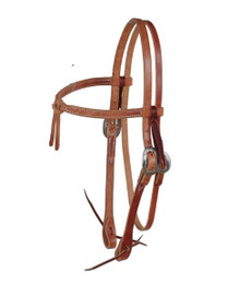 KNOTTED BROW HEADSTALL WITH S.S. HARDWARE