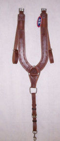 HR Saddles and Tack Trail Pulling Collar Tooled Barb Wire 6059-BW-04