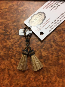 Austin Accents Small Horse Hair Tassels Natural Colors